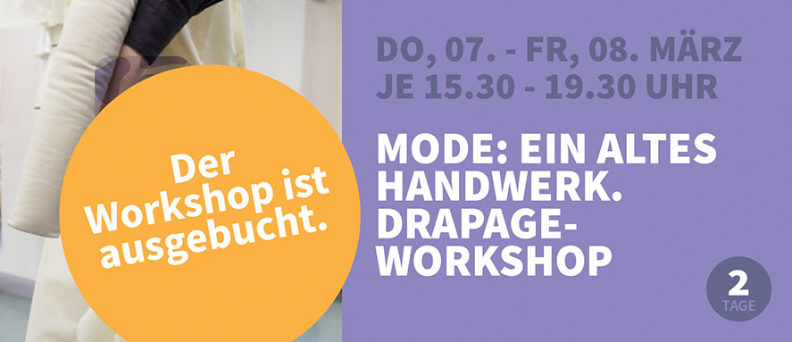 Mode: ein altes Handwerk. Drapage-Workshop